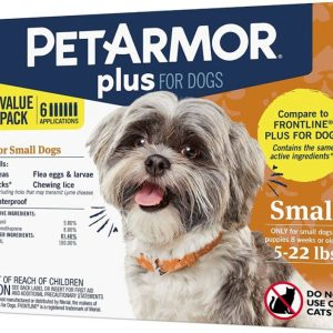 PetArmor Plus Flea and Tick Topical Treatment for Small Dogs 4-22 lbs