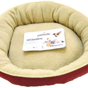 Petmate Round Pet Bed with Elliptical Bolster