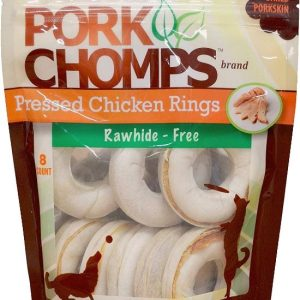 Pork Chomps Pressed Chicken Rings Dog Treats
