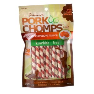 Pork Chomps Twistz Pork Chews - Pepperoni Flavor