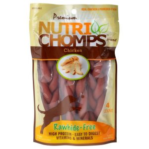 Premium Nutri Chomps Chicken Flavor Braids
