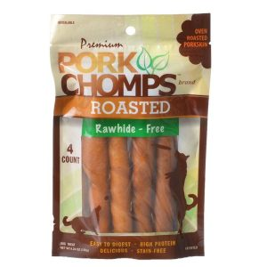 Premium Pork Chomps Roasted Porkhide Twists