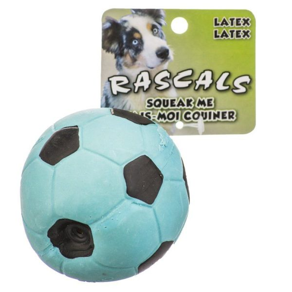 Rascals Latex Soccer Ball for Dogs - Blue
