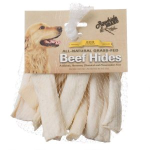 Rawhide Brand Eco Friendly Beef Hide Natural Flat Spiral Rolls
