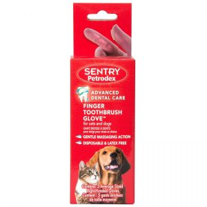 Sentry Petrodex Finger Toothbrush Glove for Cats & Dogs
