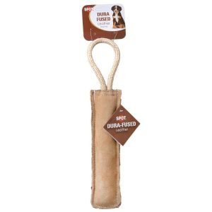 Spot Dura-Fused Leather Retriever Stick Dog Toy