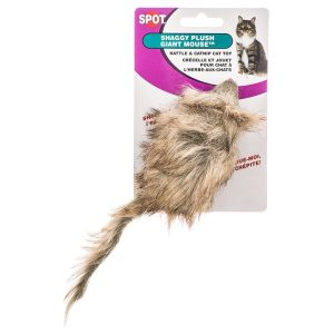 Spot Fur Mouse Cat Toy - Assorted