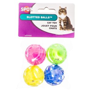 Spot Slotted Balls with Bells Inside Cat Toys