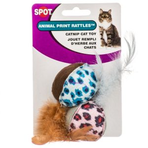 Spot Spotnips Rattle with Catnip - Animal Print