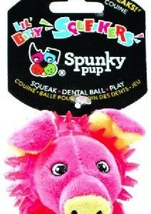 Spunky Pup Lil Bitty Squeakers Pig Dog Toy
