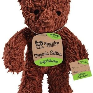 Spunky Pup Organic Cotton Bear Dog Toy