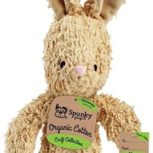 Spunky Pup Organic Cotton Bunny Dog Toy