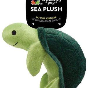 Spunky Pup Sea Plush Turtle Dog Toy