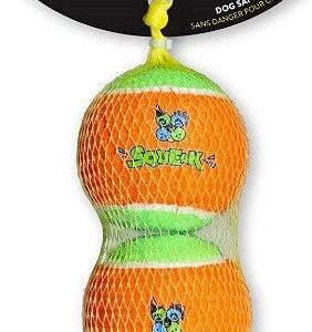 Spunky Pup Squeak Tennis Balls Dog Toy