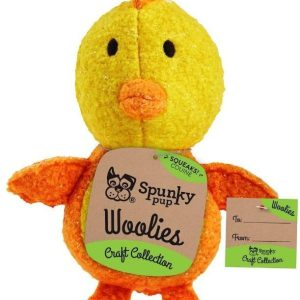Spunky Pup Woolies Chicken Dog Toy