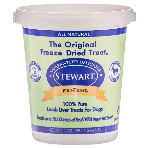 Stewart Pro-Treat 100% Freeze Dried Lamb Liver for Dogs