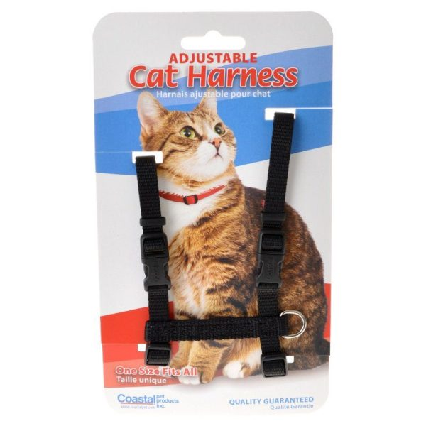Tuff Collar Nylon Adjustable Cat Harness - Black