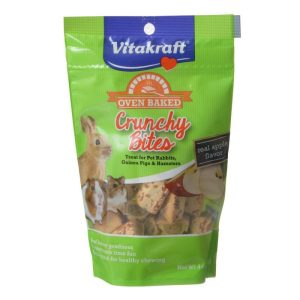 Vitakraft Oven Baked Crunchy Bites Small Pet Treats - Real Apple Flavor