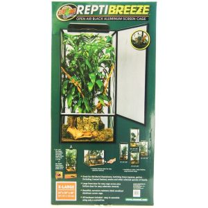 Zoo Med Reptibreeze Open Air Aluminum Screen Cage - Black