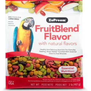 ZuPreem FruitBlend Flavor Bird Food for Large Birds