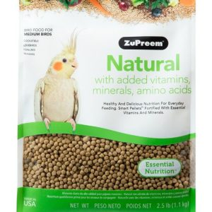 ZuPreem Natural Blend Bird Food - Cockatiel
