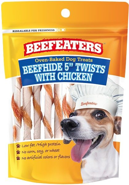 Beafeaters Oven Baked Beefhide & Chicken Twists Dog Treat