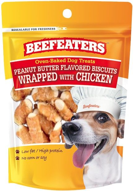 Beafeaters Oven Baked Peanut Butter with Chicken Biscuit for Dogs