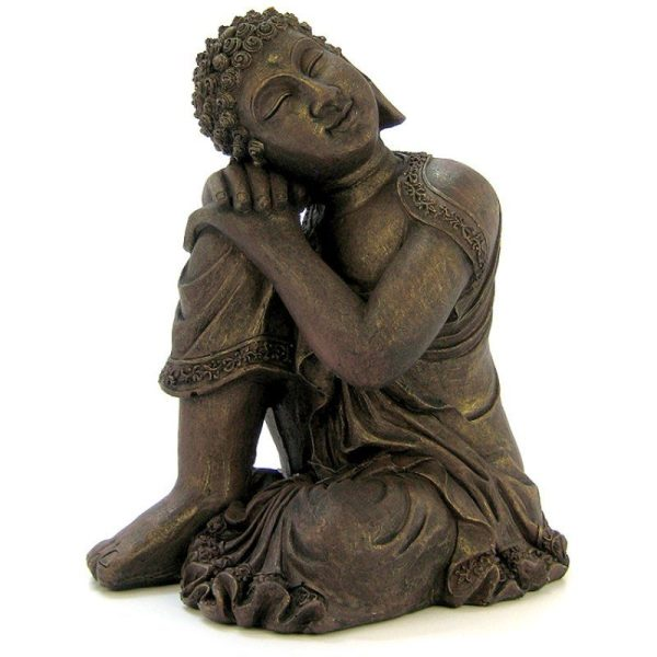 Blue Ribbon Resting Buddha Statue Ornament