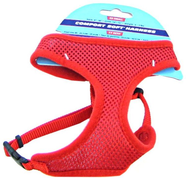 Coastal Pet Comfort Soft Adjustable Harness - Red