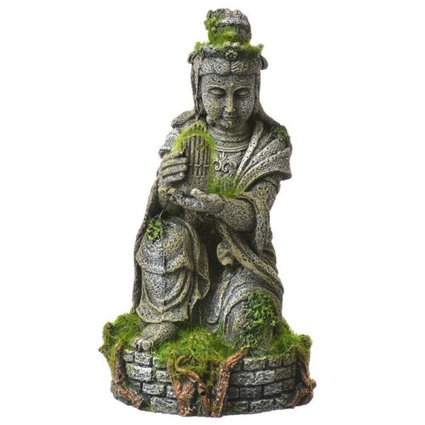 Exotic Environments Ancient Buddha Statue with Moss Aquarium Ornament
