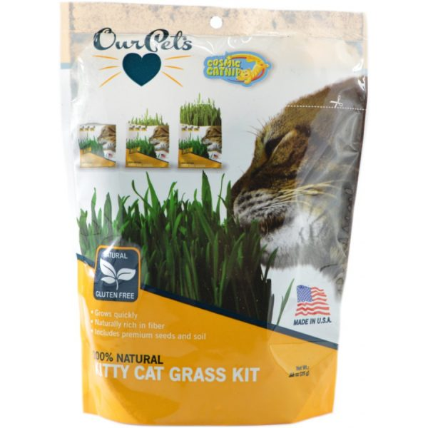 OurPets Cosmic Catnip 100% Natural Kitty Cat Grass Kit