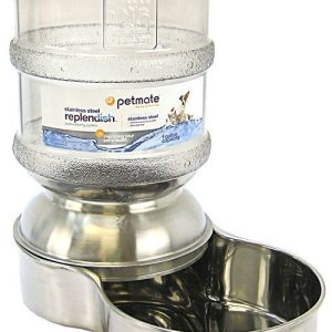 Petmate Replendish Stainless Steel Waterer