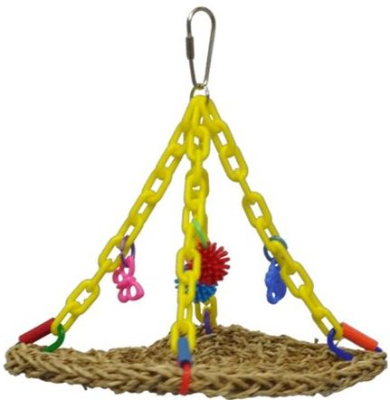 AE Cage Company Happy Beaks Hanging Vine Mat for Small Birds