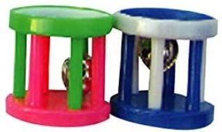 AE Cage Company Happy Beaks Small Barrel Foot Toy for Birds