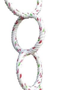 AE Cage Company Happy Beaks Triple Ring Cotton Rope Swing