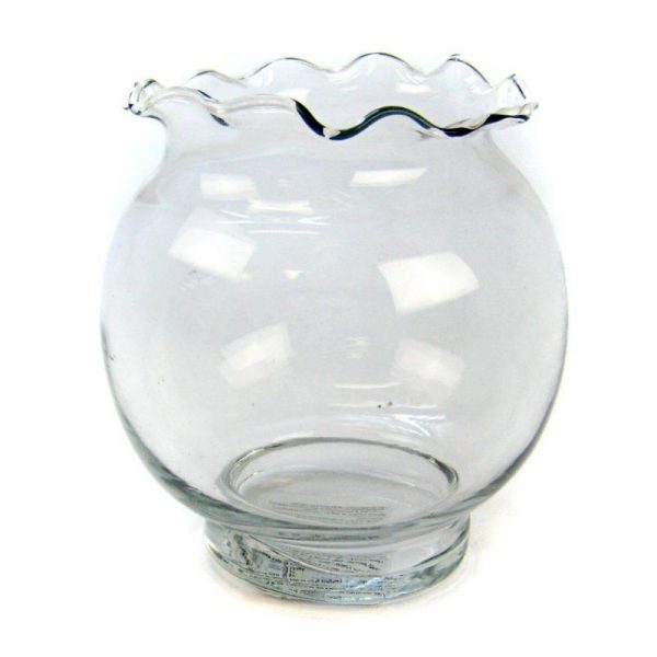 Anchor Hocking Fluted Ivy Fish Bowl