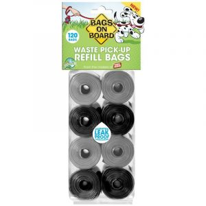 Bags on Board Pick up Bags Refill - Black & Gray