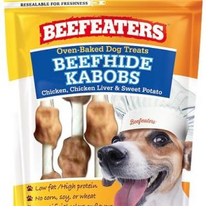 Beafeaters Oven Baked Beefhide Kabobs Dog Treat