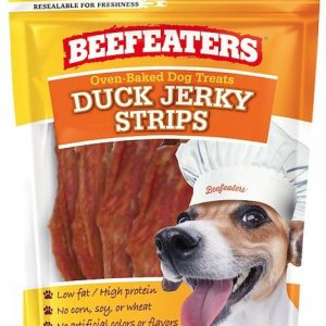 Beafeaters Oven Baked Duck Jerky Strips for Dogs