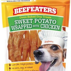 Beafeaters Oven Baked Sweet Potato Wrapped with Chicken Dog Treat