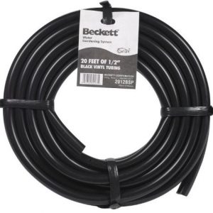 Beckett Black Vinyl Pond Tubing 20 Foot Roll