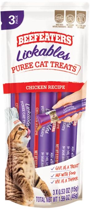 Beefeaters Lickables Chicken Puree Cat Treats