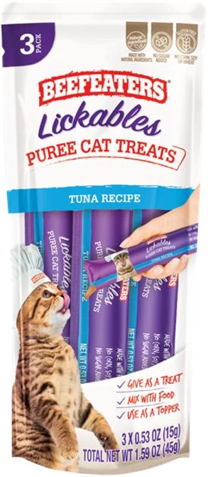 Beefeaters Lickables Tuna Puree Cat Treats
