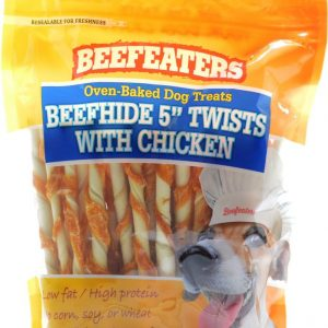Beefeaters Oven Baked Beefhide & Chicken Twists Dog Treat