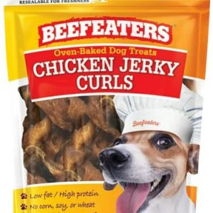 Beefeaters Oven Baked Chicken Jerky Curls Dog Treat