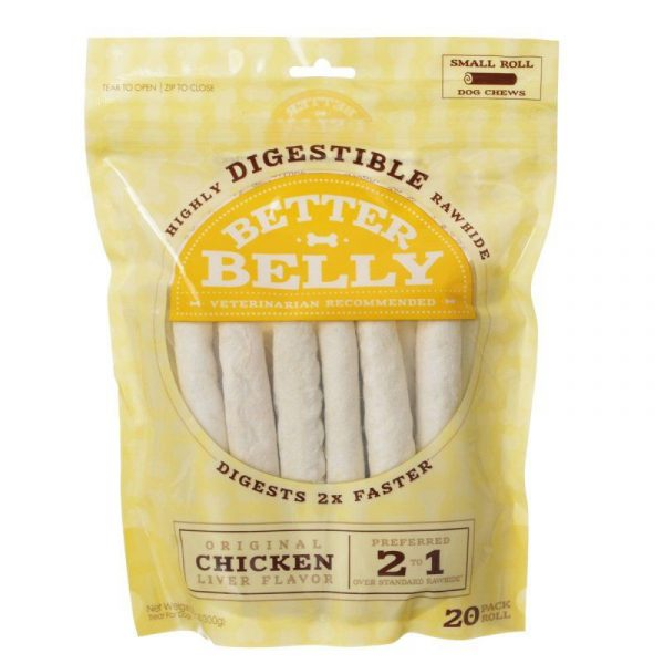 Better Belly Rawhide Chicken Liver Rolls - Small