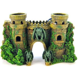 Blue Ribbon Castle Fortress with Gargoyle Ornament