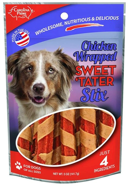 Carolina Prime Chicken Wrapped Sweet Tater Stix Dog Treats