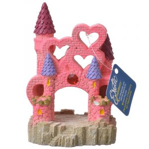 Exotic Environments Pink Heart Castle Aqiarum Ornament