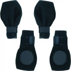 Fahion Pet Arctic Fleece Dog Boots - Black